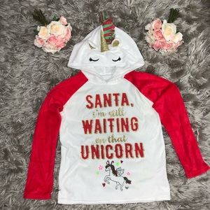Justice Unicorn Christmas Sweater Girl's Size 8